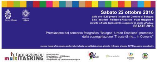 """""""Bologna: Urban Emotions"""", le premiazioni il 22 ottobre"""